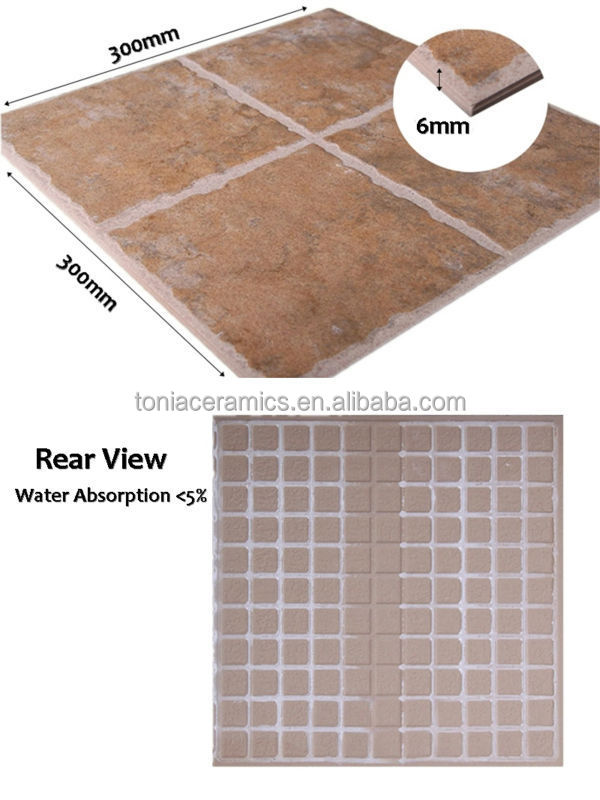 Balcony Floor Tiles Mix Color Glazed Ceramic Rustic Tile View Mix