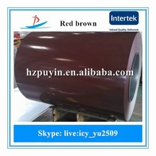 new red brown ppgi color roofing sheets used in Building materials as Roof panel, Sandwich board,Door plate