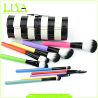 Luxury and colorful cosmetic neck brush makeup brush for blusher 10pcs