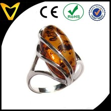 Factory Direct Sale 925 Sterling Silver Jewelry Honey Amber Collection and Sterling Silver Designer Ring