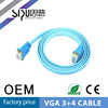 SIPU High Quality Male to Male,Male to Female flat vga cable 3+4