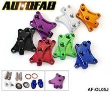AUTOFAB - Oil Block Adapter For Nissan SR20DET S13 S14 S15 SR20DET Oil sandwich adapter Default color is Red AF-OL05J
