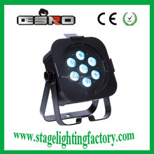 cub Stage light,7pcs 4 in 1 flat 10W rgbw led par lighting 2015 theatres, rental, discos, stages, pubs and Djs