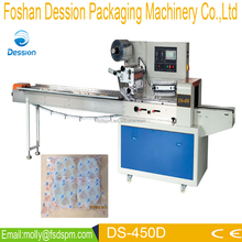 China manufacturer horizontal flow automatic bath brushes packaging machine (DS-450D)