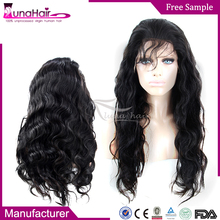 Wholesale cheap human hair full lace wig , unprocessed virgin brazilian human hair wig
