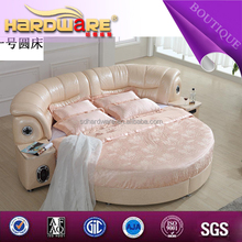 made in china 250*315 Latest bedroom furniture round bed design , ikea sofa bed