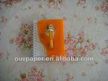 Spiral notebook with PP cover,80gsm wood free paper,recycled
