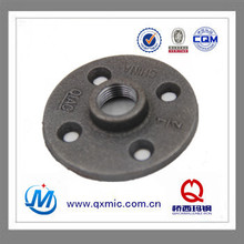 calss 150 black Malleable Iron Pipe Fitting floor flange