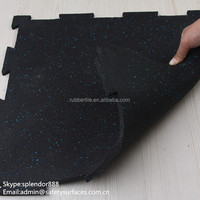 Best quality sports flooring/ Cheap interlocking sports flooring /interlock rubber mats for gym