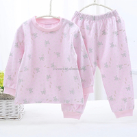 Girl Pink Complete Beautiful Clothes Warmth Long Sleeves Baby Suit Toddler Clothes Set
