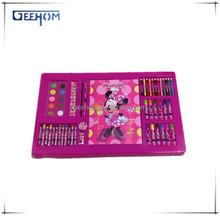 Children activity book with colorful pencil sets, kids color filling art set