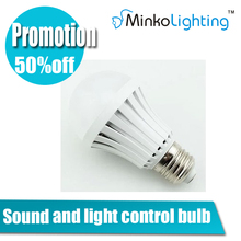 Sound and light control 5w plastic bulb AC85-265 led france