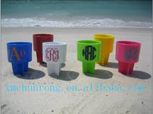 Eco-friendly plastic beach cup holder