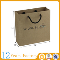 Wholesale cheap recycle brown paper carrier bags