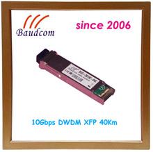 Wavelength selectable 10Gbps DWDM XFP 40Km fiber optic transceiver
