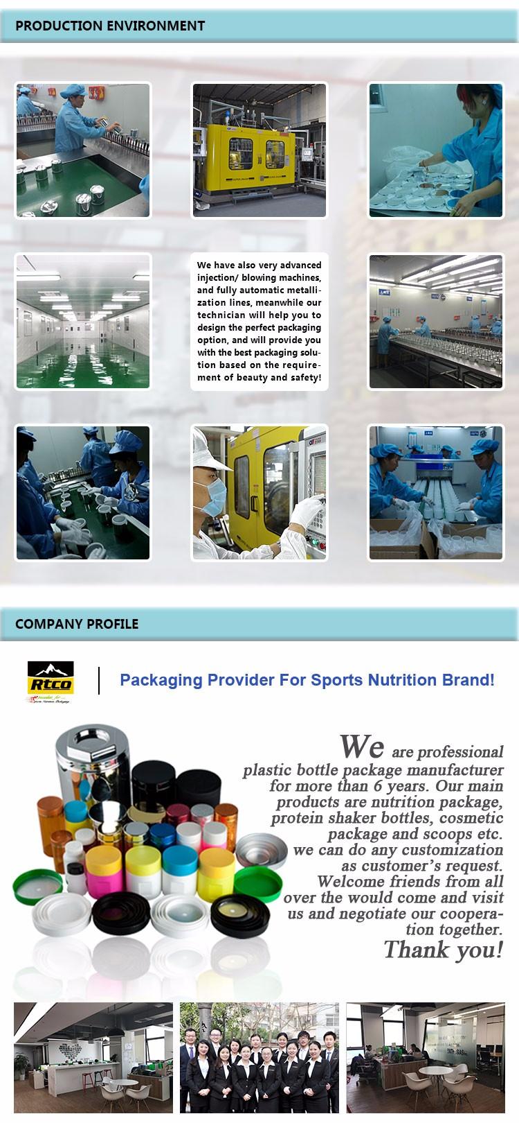 RTCO Fácil limpeza garrafa de plástico feito sob encomenda
