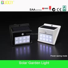 waterproof Solar Power Panel 8 LED Lamp, Outdoor Garden Wall light