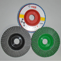 Aggressive dry and wet running diamond abrasive flap discs