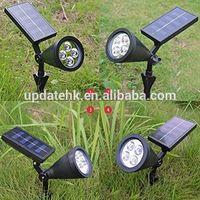 HOMEAN HOMEAN 4 LED Solar Garden Stick Light Solar Lawn Light for Outdoor