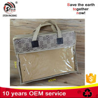 new fashion zippered non woven packaging bag for pillow, cloth, sleeping wear
