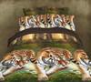 luxury european 3d printed animal tiger dobby design bedding set