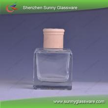 La fragancia de vidrio botellas de aceite con tapa de madera