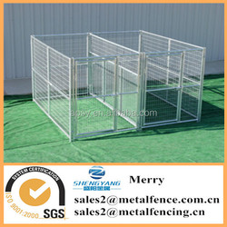 5'X10' welded wire mesh galvanized steel tube dog kennel with fight guard divider and 2 dog runs