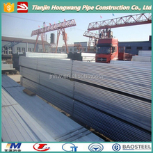 1 1/4 X 1 1/4 inch Galvanized steel pipe (Square Hollow Section)