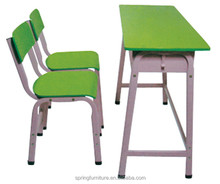 double school chair/modern school desk and chair/green school furniture