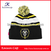 Embroidery Tiger Striped Beanie Hat And Winter Hats