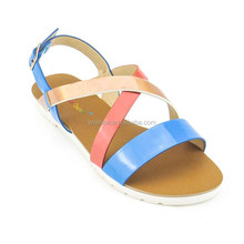 PVC sole jelly matching colors plat open toe ladies sandals designs 2015