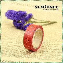 Popular waterproof printed masking tape/japanese tape/adhesive tape for Christmas ornament gift DIY SOMITAPE