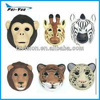 Comfortable 3D Vivid Wild Animal mask Zebra Tiger Lion Giraffe mask for kids
