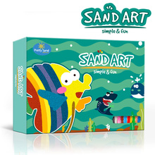 Lovely sand art painting educational toys for kids