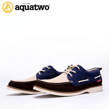Manufacturer high quality flat leather men casual shoe