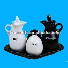 New design kitchen ceramic cruet jar set