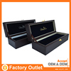 favorable price best quality leather wine box with silver lock