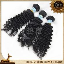 Grade 6A Brazilian Human Virgin Remy Hair Deep Wave Extension type