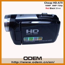 720P HD Digital Camcorder Professional Video Camcorder with 16.0mp Sensor and Motion Detection (HD-A70)