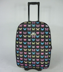 butterfly print Cheap Inner Trolley Soft Luggage