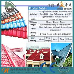 Hot selling synthetic resin acrylic clay roofing tile for wholesales