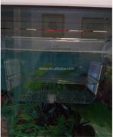 Aleas 2 in 1 aquarium acrylic fish hatchery breeding and isolation box