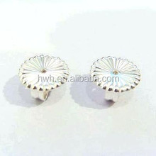 H555/7.5mm Silver Flower Stud Earring Clutch Factory Supplier