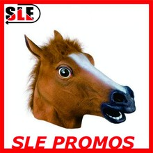 2015 latex horse head mask Party Supplies Custom Made Cosplay Animal Head Rubber Horse Mask
