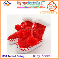 2015 Top Selling MOQ 72 New Design moccasin slipper socks