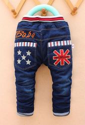 2015 new winter arrival new item boy and girl thick jeans pant kid cute denim pant 1-4 years many designs