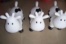 white Cow BouncerInflatable Space Hopper, Ride-on Bouncy Animal
