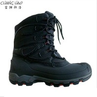 New Design Snow Boot Manufacturer,Fashion Style Black Ground HasElastic Tape With Antiskid Sole For Child
