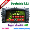 2 din android 4.4.2 for Transit Connect dvd car with touch screen 3g wifi bluetooth mirror-link hotspot mp3 gps radio 2010