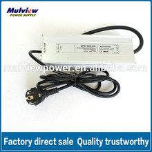 ShenZhen Single 24V 5A Waterproof Constant Voltage LED Power Supply
